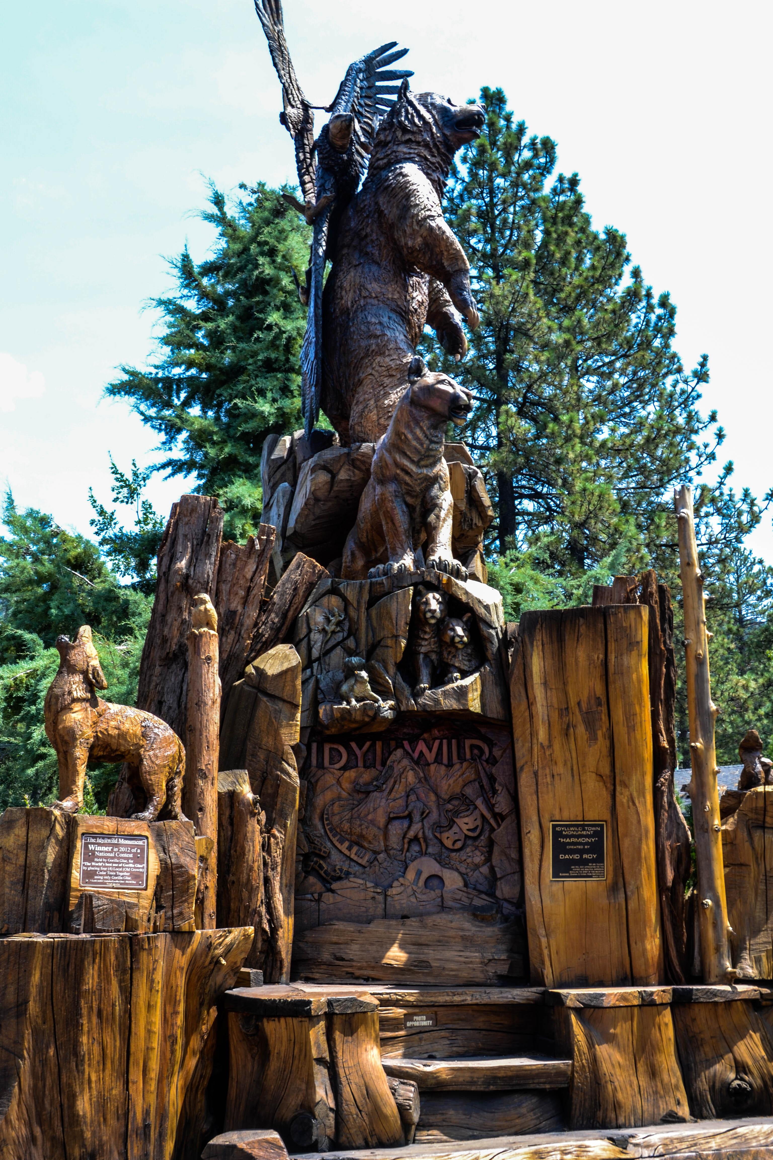 Idyllwild town monument