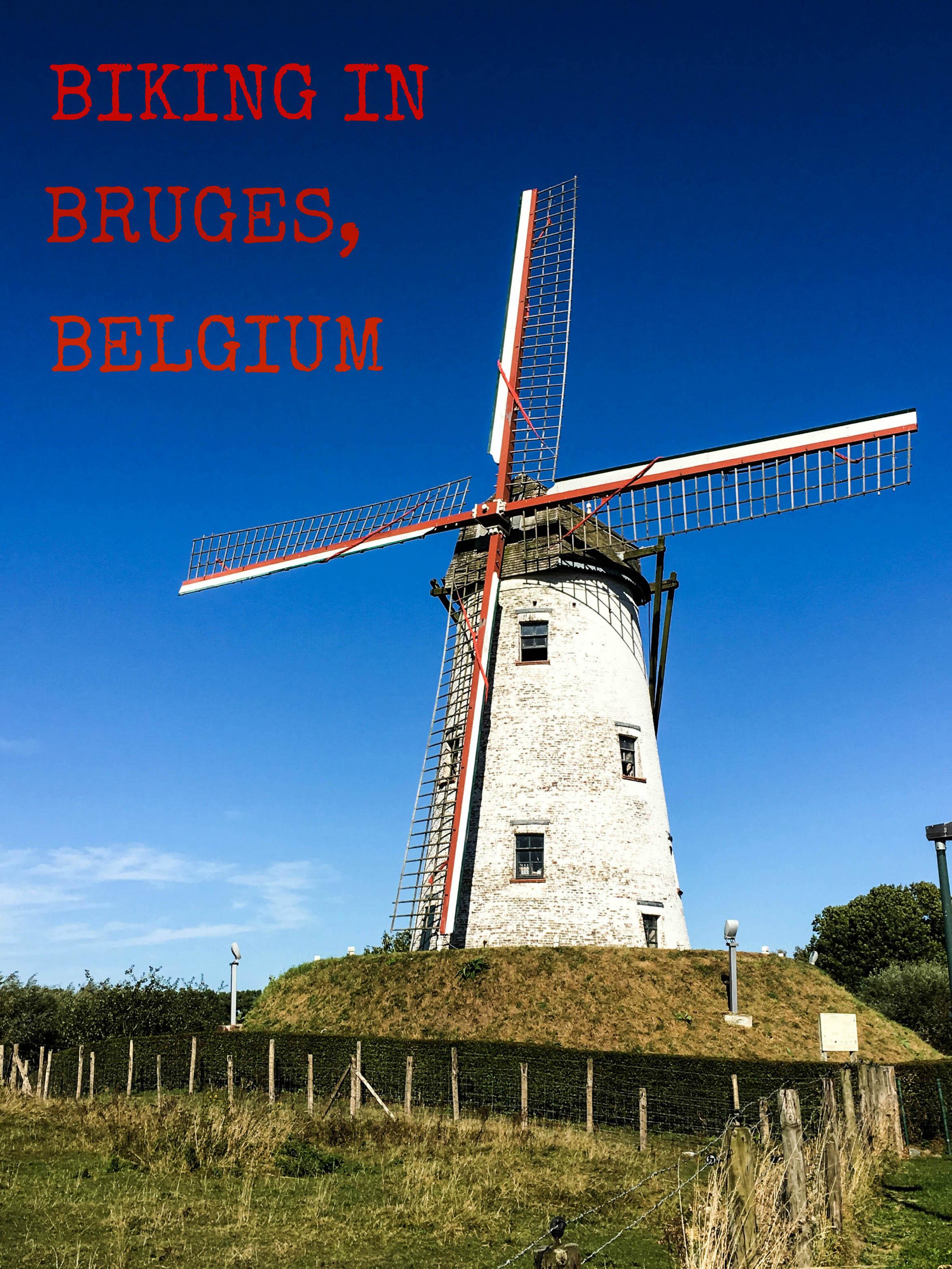 Biking in Bruges Belgium