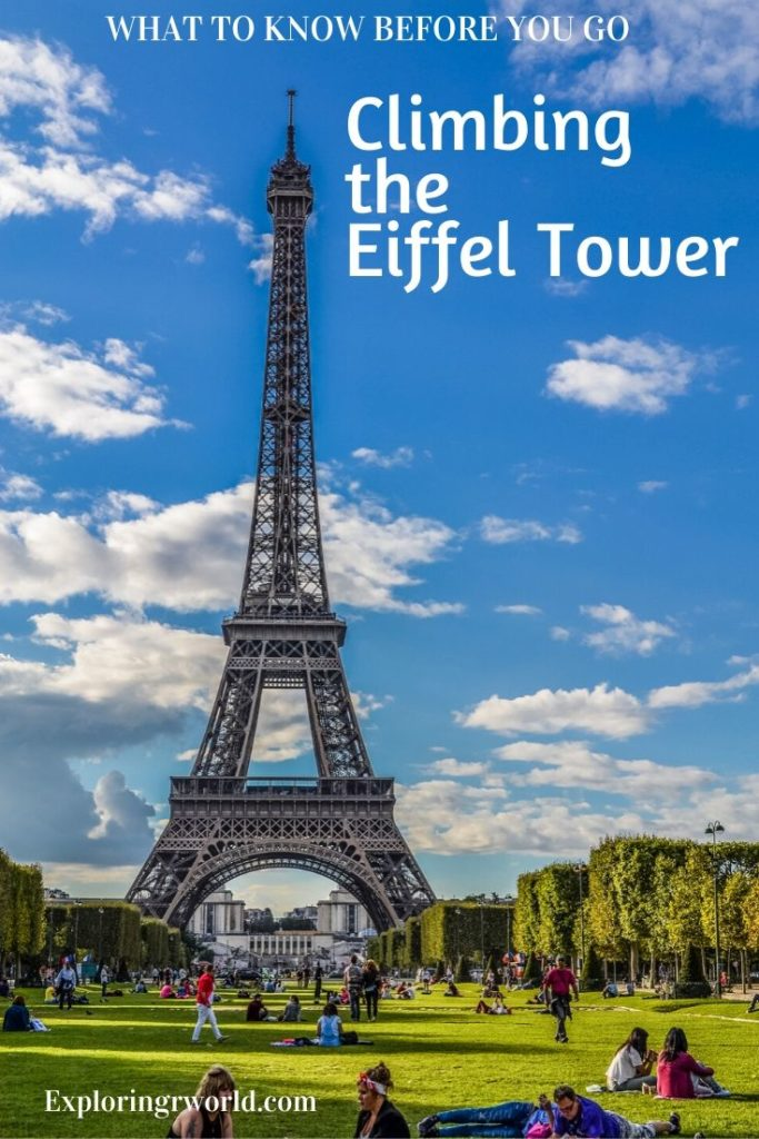 Climbing Eiffel Tower France - Exploringrworld.com