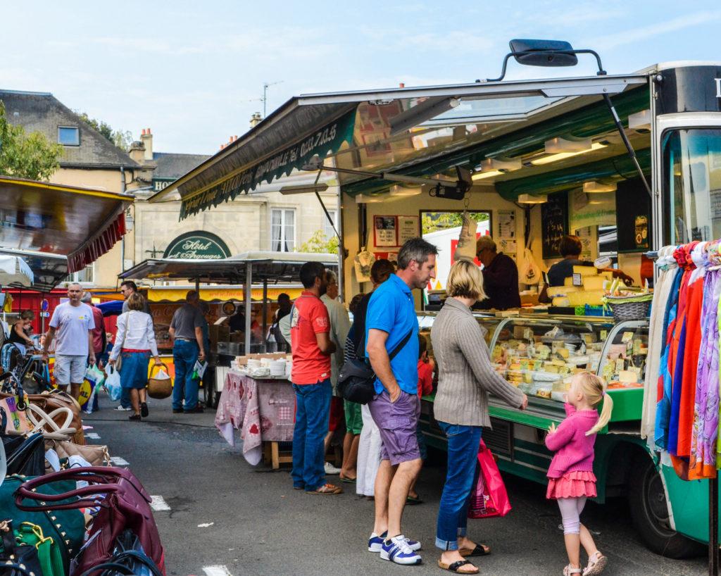 Bayeux Normandy Street Market