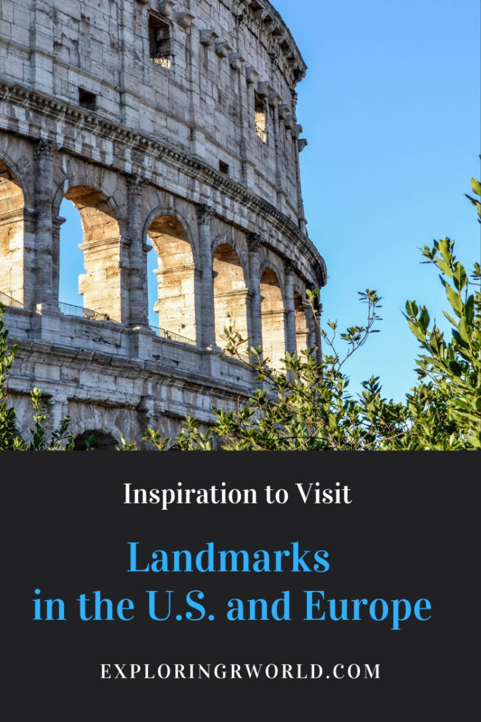 Landmarks U.S. and Europe - Exploringrworld.com
