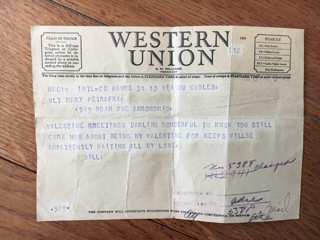 Telegram from France