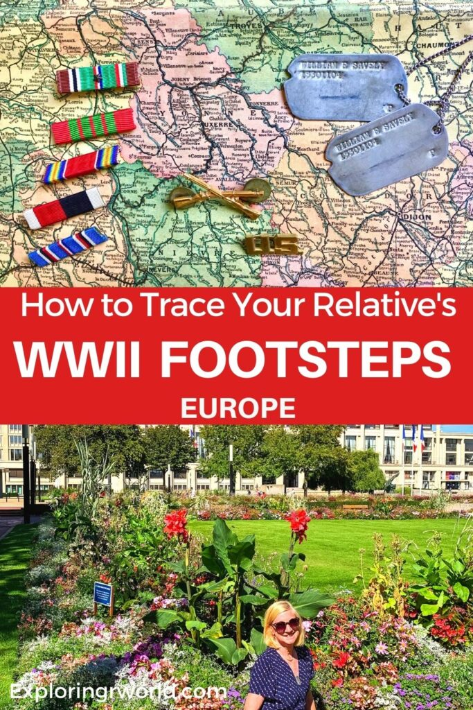 Tracing WWII footsteps dog tags