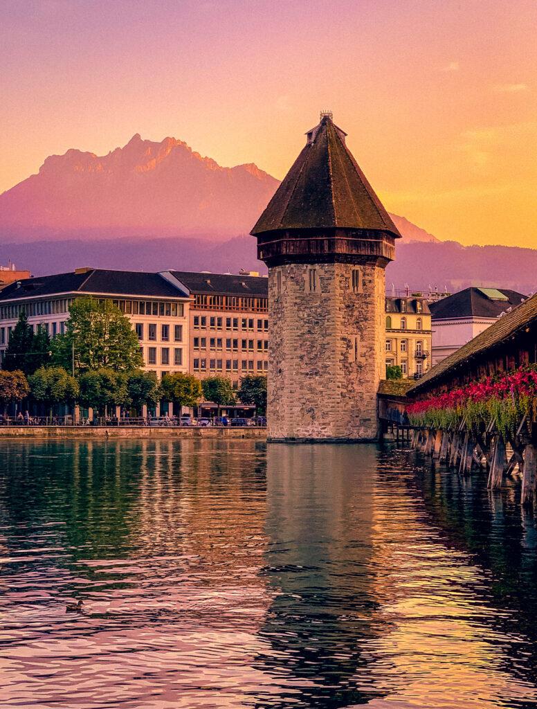 Lovely Lucerne Sunset