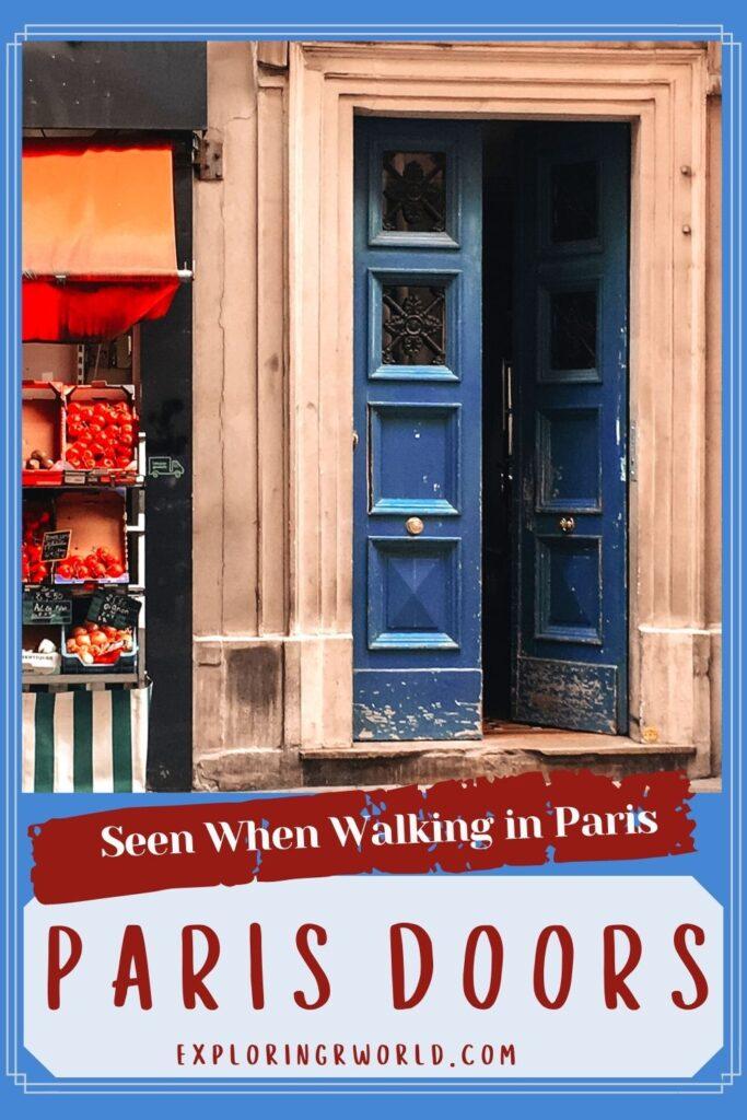 Doors of Paris - Exploringrworld.com